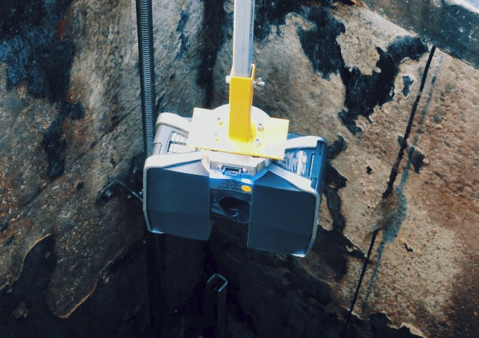 Remote scanning of a Manhole Chamber from surface